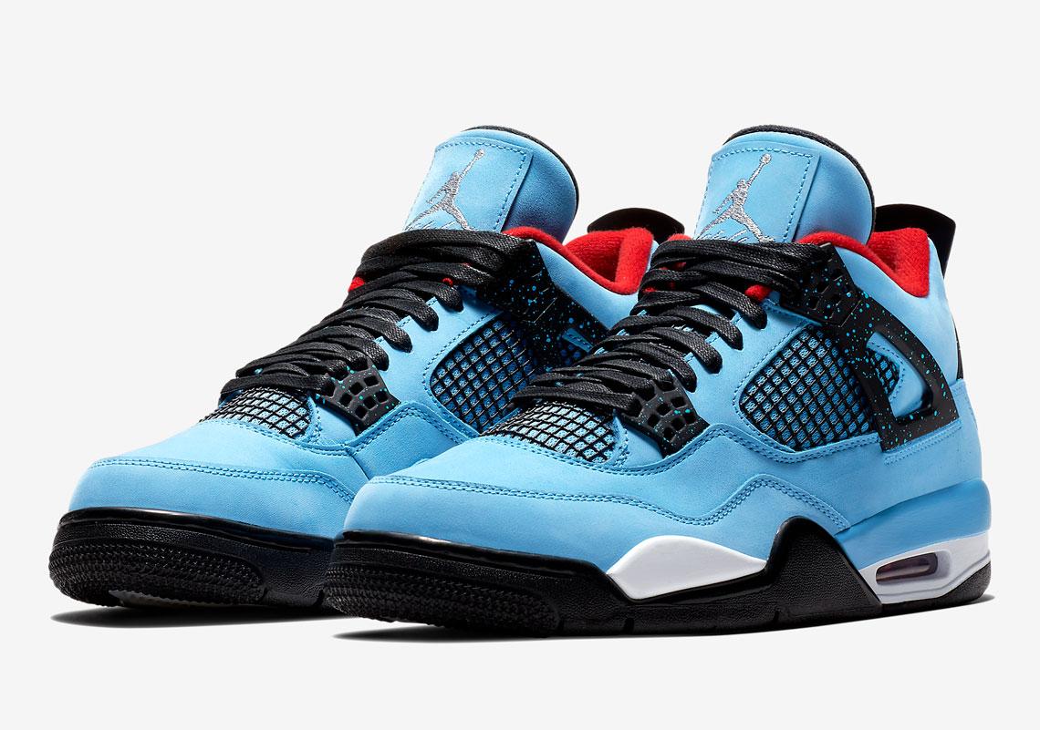 """Кроссовки Travis Scott x Air Jordan 4 """"Cactus Jack"""" вид в профиль"""