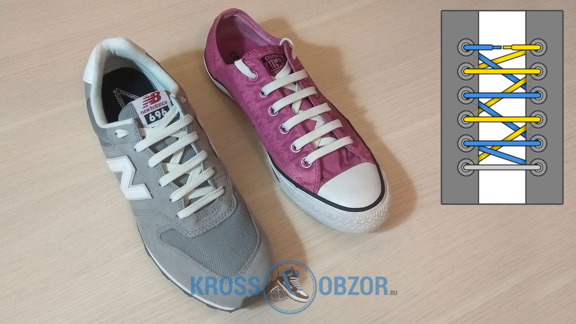 Европейская шнуровка для кроссовок и кед