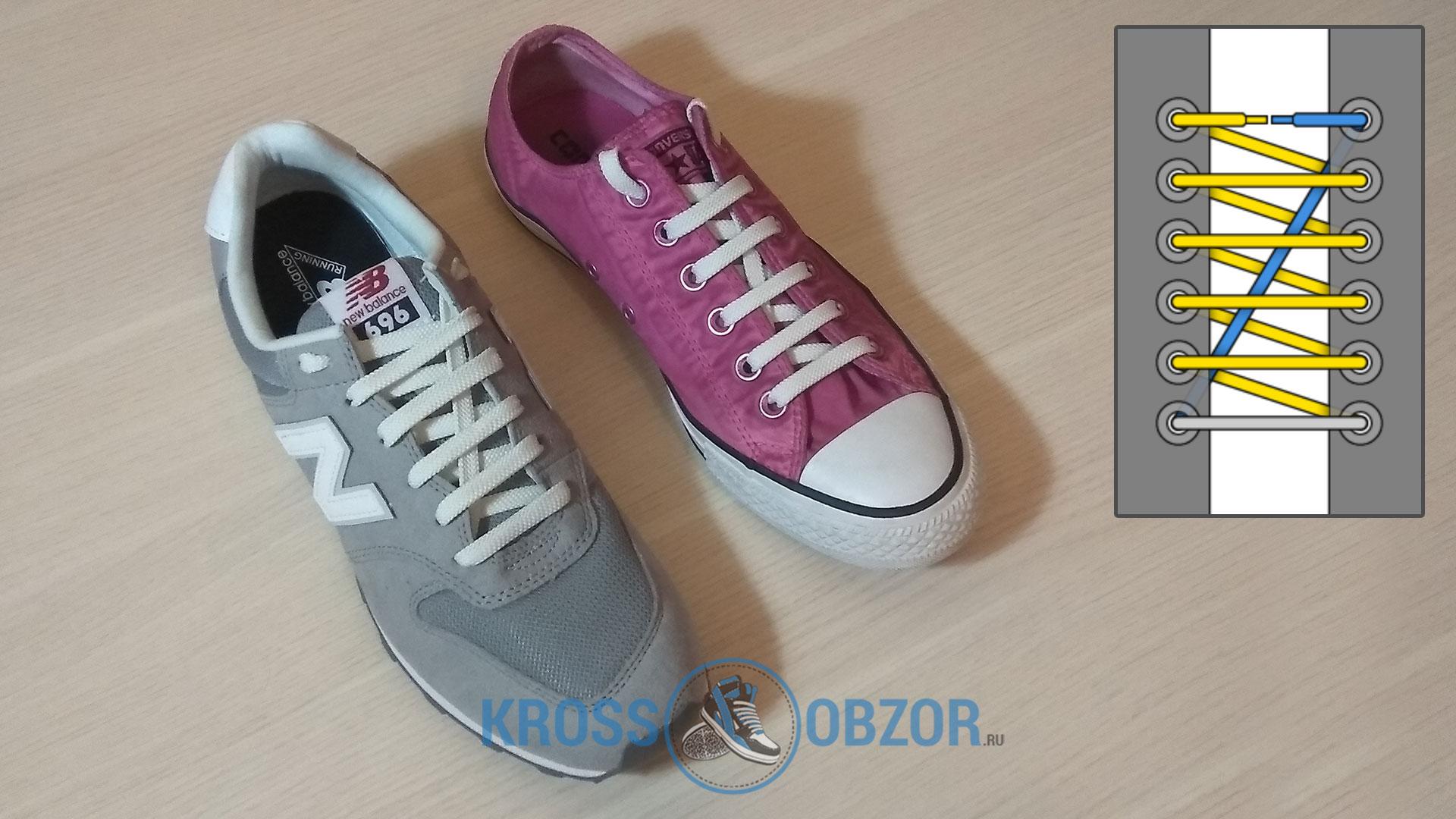 Магазинная шнуровка для кроссовок и кед