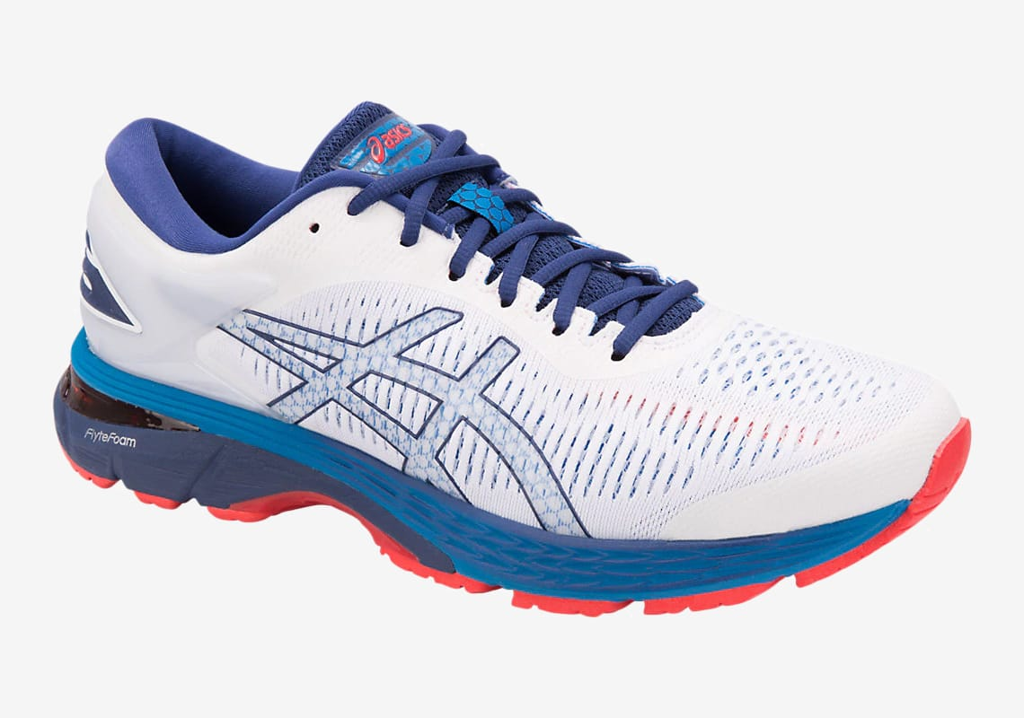 Asics GEL Kayano 25 White/Blue Print