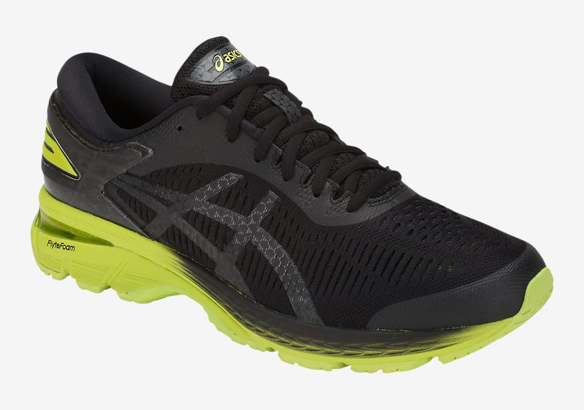 Asics GEL Kayano 25 Black/Neon Lime