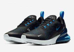 Nike Air Max 270 Black/Photo Blue-Blue Fury-Pure Platinum