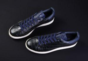 adidas-stan-smith-croc-skin-kicks-BZ0453-ink blue