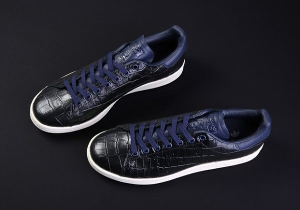 adidas-stan-smith-croc-skin-kicks-BZ0453-ink blue