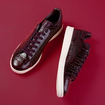 adidas-stan-smith-croc-skin-kicks-lab-BZ0454-burgundy