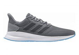 Adidas Runfalcon Grau (Grey Three/Grey Six/Shock Cyan 0)