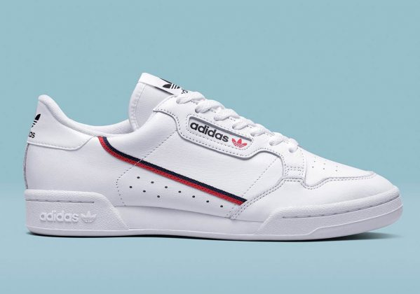 Adidas Continental 80 White Red Blue