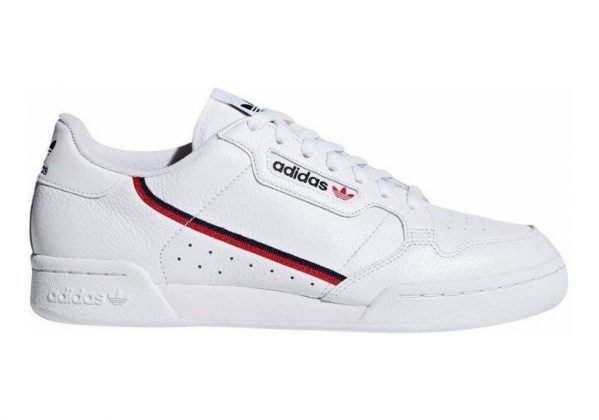 Adidas Continental 80 White/Scarlet/Collegiate Navy