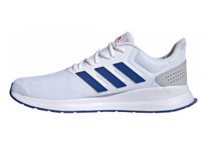 Adidas Runfalcon blanc/bleu roi/rouge