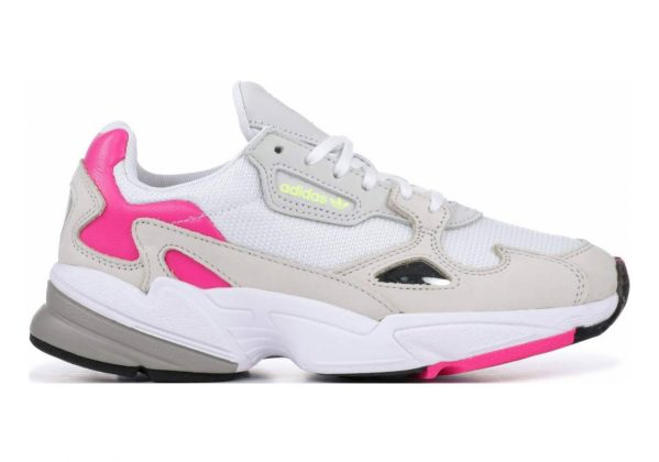 Adidas Falcon White/Clear Brown/Shock Pink/Yellow