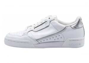 Adidas Continental 80 White/White/Silver Metallic