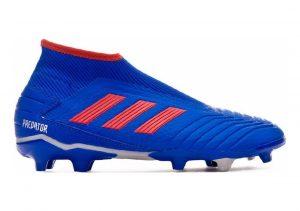 Adidas Predator 19.3 Laceless Firm Ground Blå