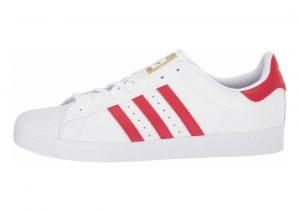 Adidas Superstar Vulc ADV Footwear White/Scarlet/Gold Metallic