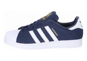 Adidas Superstar Suede Blue (Collegiate Navy/Ftwr White/Collegiate Navy)