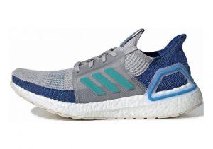 Adidas Ultra Boost 19 Grey Two / Shock Cyan