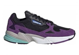 Adidas Falcon Core Black / Cloud White-active Purple