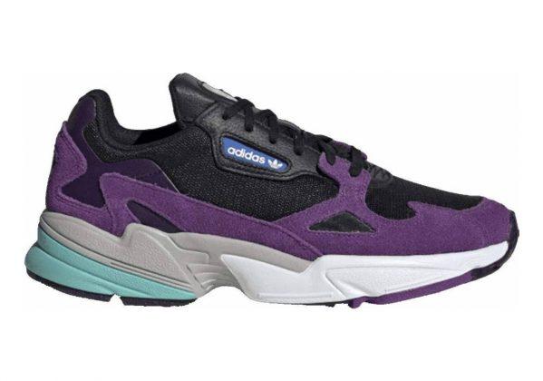 Adidas Falcon Core Black / Cloud White-active Purple