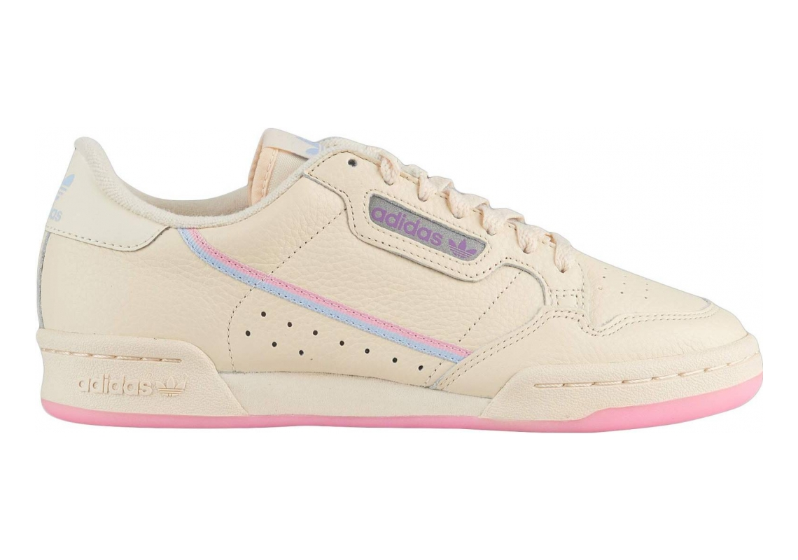 Adidas Continental 80 Ecru Tint/True Pink/Periwinkle