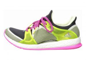 Adidas Pure Boost X Training Shoe Black/Shock Pink/Semi Solar Slime