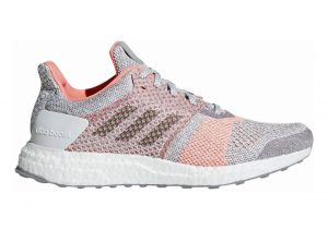 Adidas Ultra Boost ST Crystal White/Grey/Clear Orange
