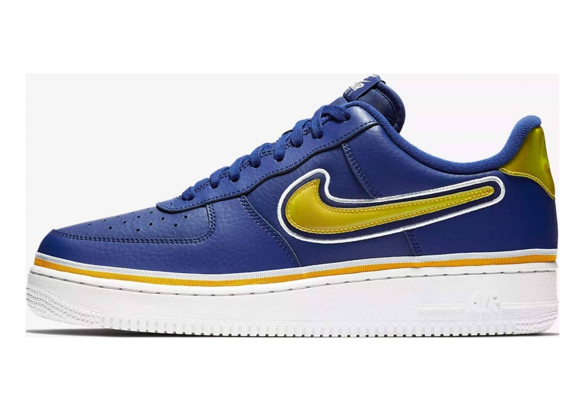 Nike Air Force 1 07 LV8 Deep Royal/University Gold