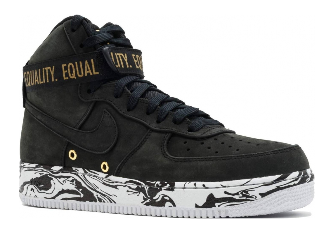 Nike Air Force 1 High BHM QS Black, Black-metallic Gold