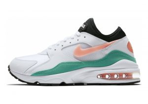 Nike Air Max 93 White-crimson Bliss- Kinetic Green- Black