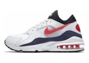 Nike Air Max 93 White, Habanero Red