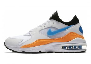 Nike Air Max 93 Bianco (White/Blue Nebula/Total Orange/Black 104)