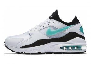 Nike Air Max 93 White, Sport Turq-black