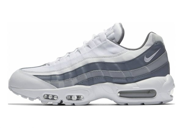 Nike Air Max 95 Essential White-white-cool Grey-wolf Grey (749766-105)