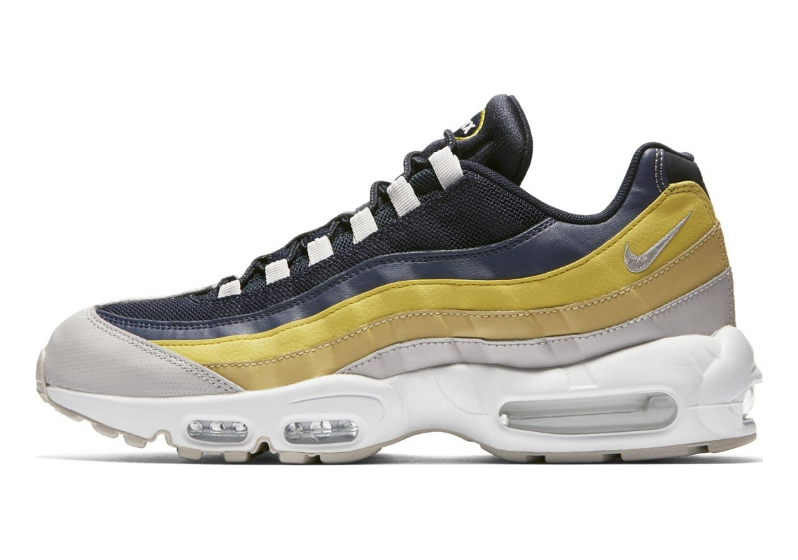Nike Air Max 95 Essential Gris (White/Vast Grey/Lemon Wash/Tour Yellow 107)
