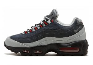 Nike Air Max 95 Essential •Silver / Cool Grey - Anthracite - University Red