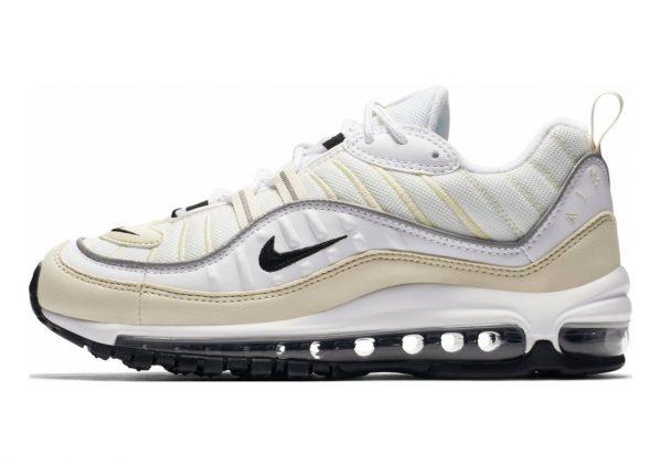Nike Air Max 98 White, Black-fossil