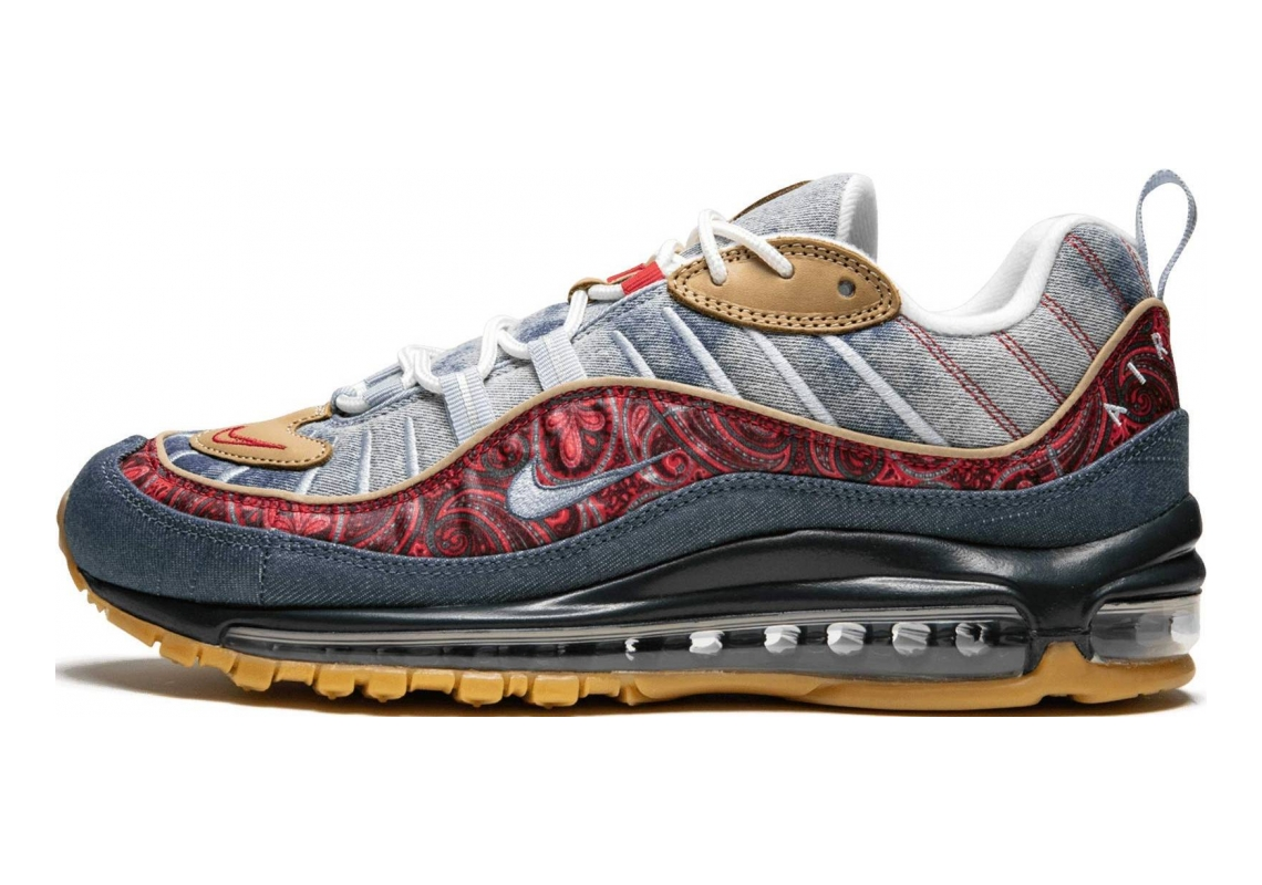 Nike Air Max 98 Lt Armory Blue, University Red