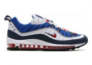 Nike Air Max 98 Bianco (White / University Red 100)