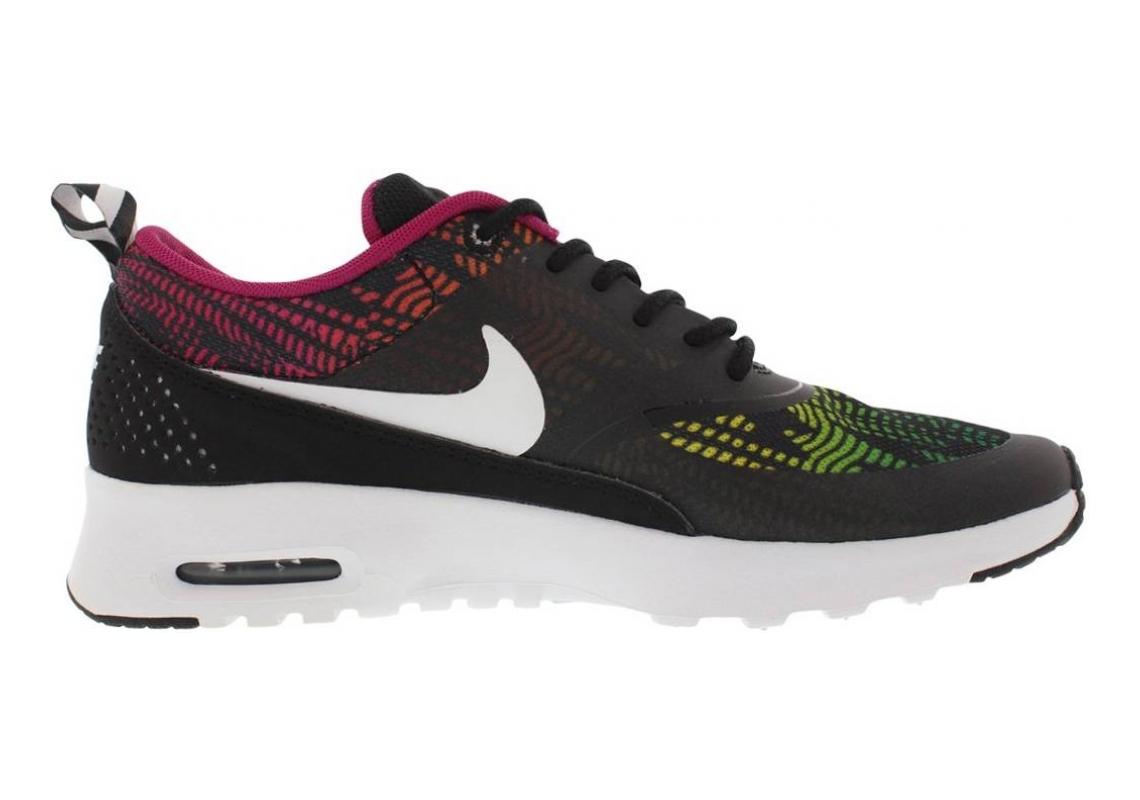 Nike Air Max Thea Print Black/White/Brght Mgnt/Rd Vlt