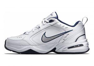 Nike Air Monarch IV White/Metallic Silver/Midnight Navy