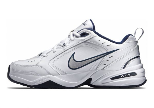 Nike Air Monarch IV White/Metallic Silver/Midnight Navy