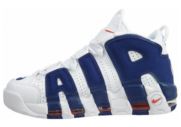 Nike Air More Uptempo White, Deep Royal Blue