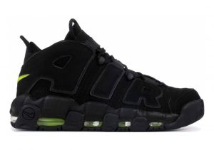 Nike Air More Uptempo Black, Black-volt
