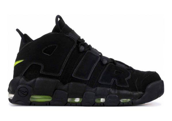 Nike Air More Uptempo Black, Black-volt