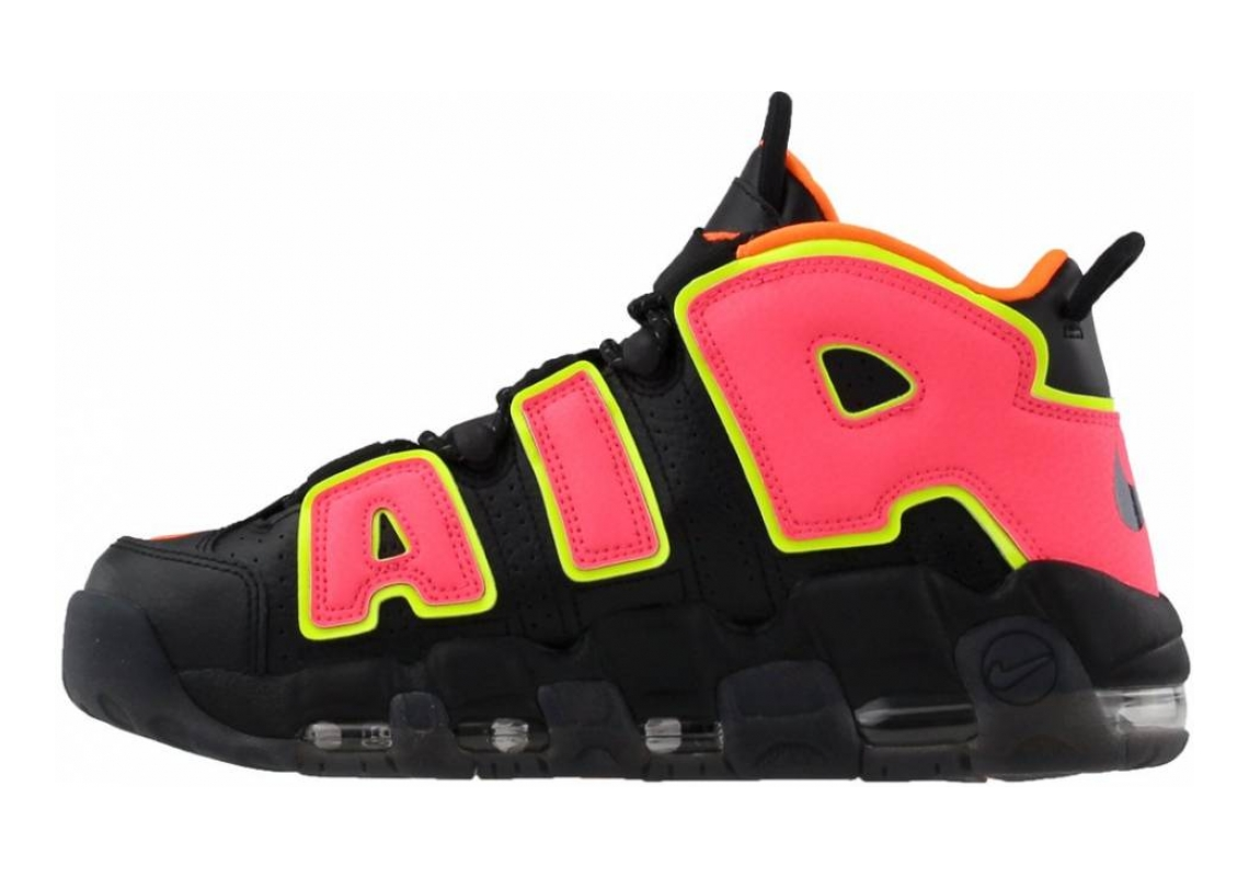 Nike Air More Uptempo Black/Hot Punch/Volt