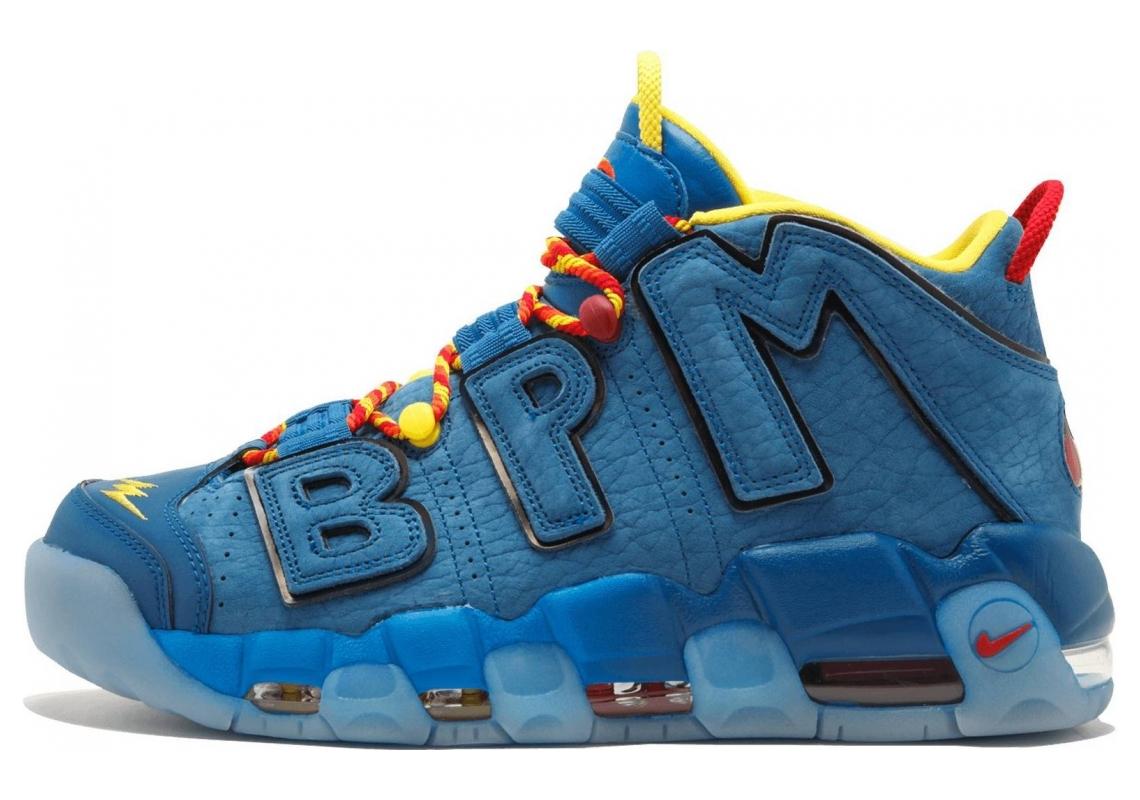 Nike Air More Uptempo Blue Jay, Gym Red-team Orange-blue Jay