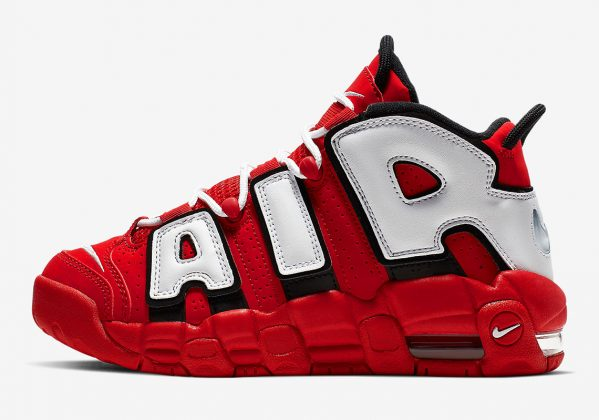 Nike Air More Uptempo University Red Black Summit White