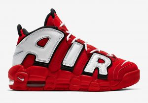 Nike Air More Uptempo University Red Black Summit White