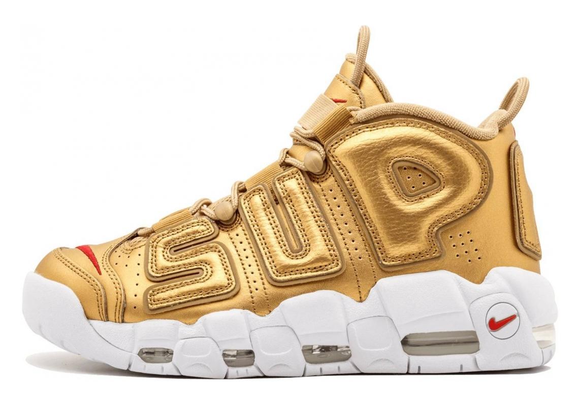 Nike Air More Uptempo Metallic Gold/White