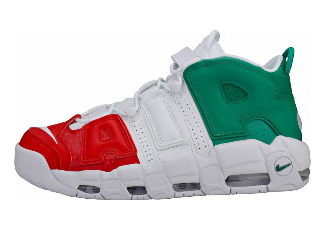 Nike Air More Uptempo Multicolore (University Red/White/Lucid Green 600)