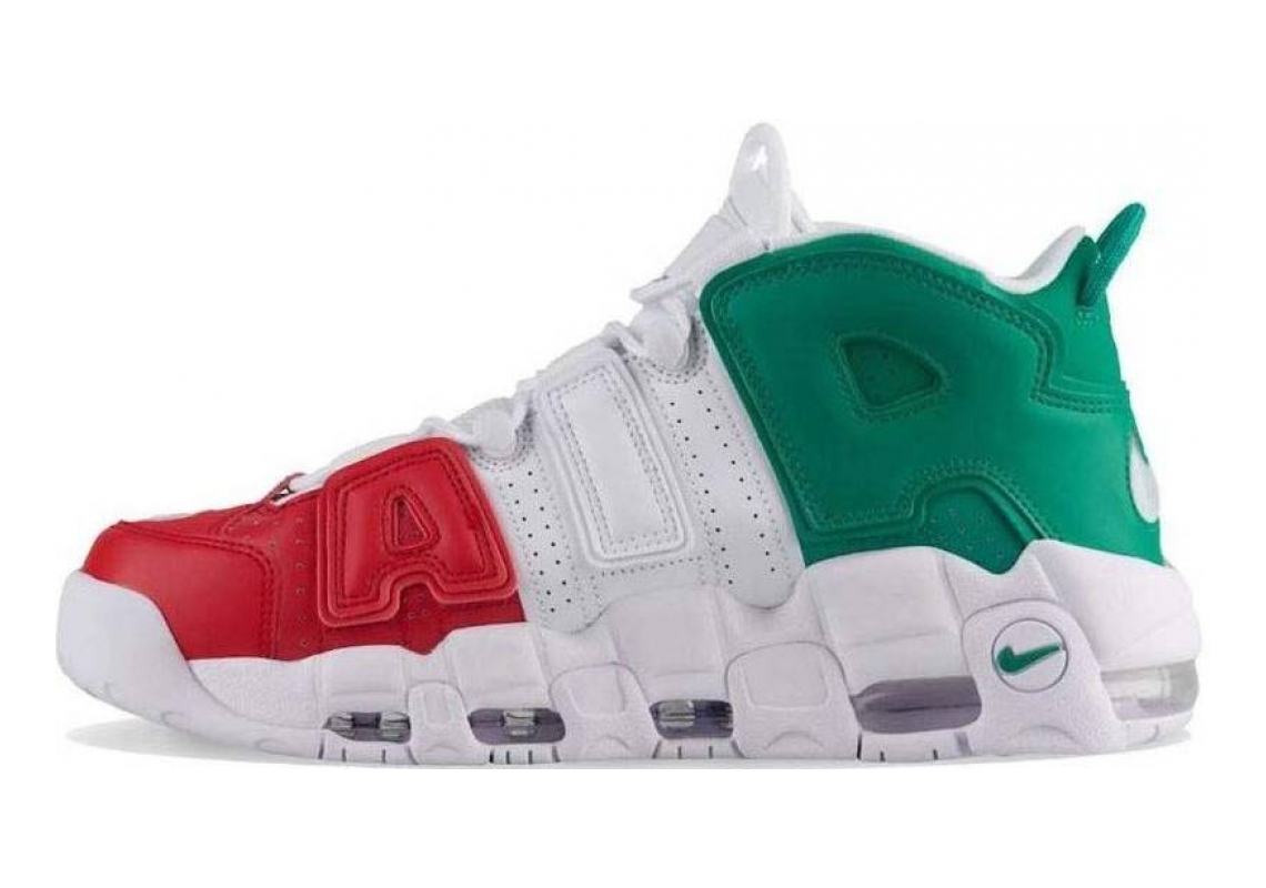 Nike Air More Uptempo Multicolore (University Red/White/Lucid Green 001)