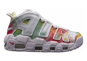 Nike Air More Uptempo Mehrfarbig (Amarillo/White/Speed Red/Neptune Green 001)